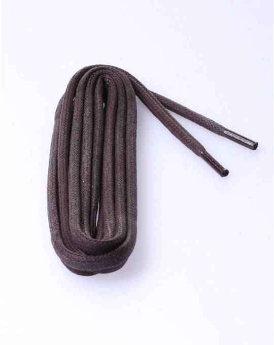 Round waxed laces d.brown 75cm